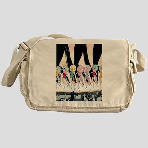Vintage Dancing Troupe Messenger Bag