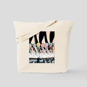 Vintage Dancing Troupe Tote Bag