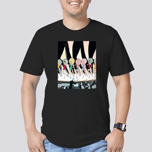 Vintage Dancing Troupe Men's Fitted T-Shirt (dark)