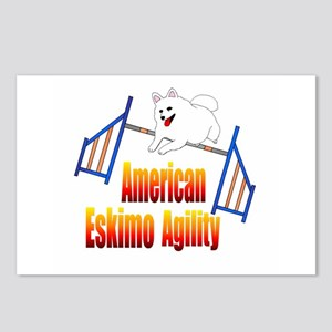 American Eskimo Dog Agility Postcards (Package of