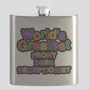 Worlds Greatest FRONT DESK RECEPTIONIST Flask