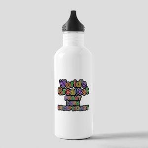 Worlds Greatest FRONT DESK RECEPTIONIST Water Bott