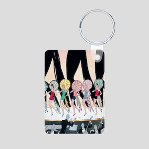 Vintage Dancing Troupe Aluminum Photo Keychain