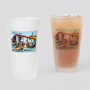 Alpena Michigan Greetings Drinking Glass
