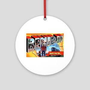 Bemidji Minnesota Greetings Ornament (Round)