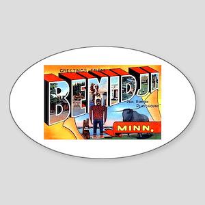 Bemidji Minnesota Greetings Sticker (Oval)