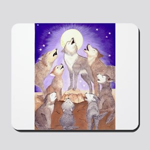 Wolves howling Mousepad