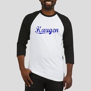 Haugen, Blue, Aged Baseball Jersey