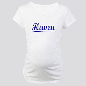 Haven, Blue, Aged Maternity T-Shirt