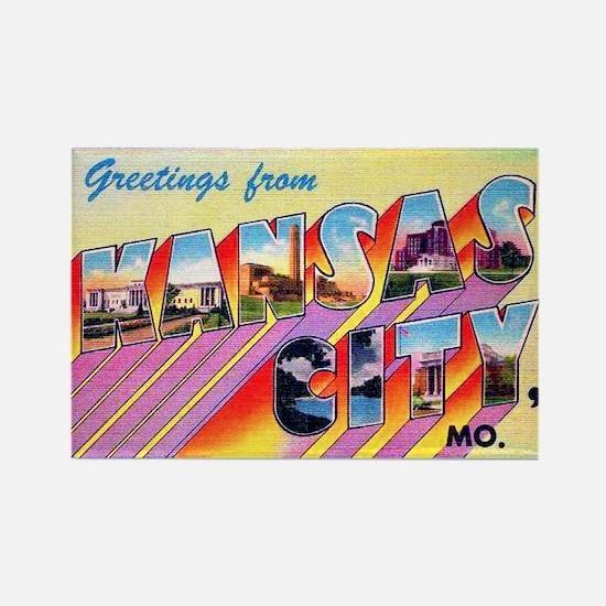 Kansas City Missouri Greetings Rectangle Magnet