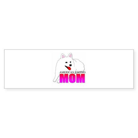 American Eskimo Dog Mom Sticker (Bumper)