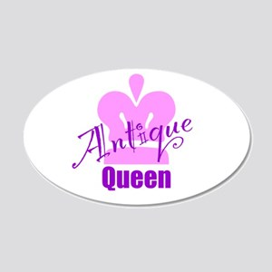 Antique Queen 20x12 Oval Wall Decal