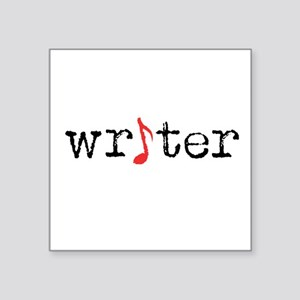 "writer Square Sticker 3"" x 3"""