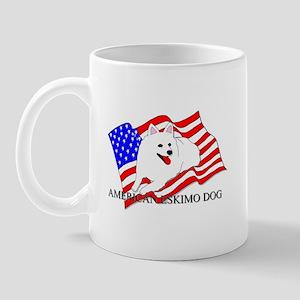 American Eskimo Dog USA Mug