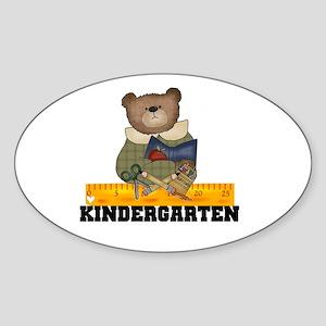 Bear Kindergarten Oval Sticker