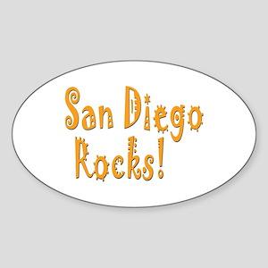 San Diego Rocks! Oval Sticker