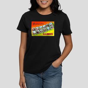 Aurora Illinois Greetings Women's Dark T-Shirt