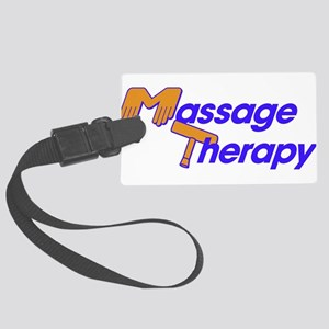 Massage Therapy Large Luggage Tag