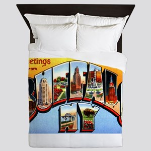 Buffalo New York Greetings Queen Duvet
