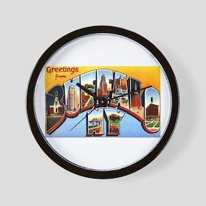 Buffalo New York Greetings Wall Clock