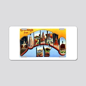 Buffalo New York Greetings Aluminum License Plate