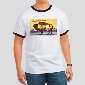 Buffalo New York Greetings Ringer T