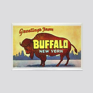 Buffalo New York Greetings Rectangle Magnet