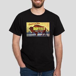 Buffalo New York Greetings Dark T-Shirt