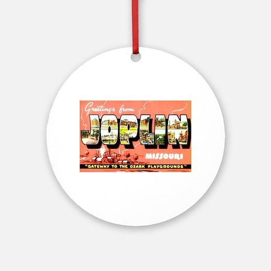Joplin Missouri Greetings Ornament (Round)