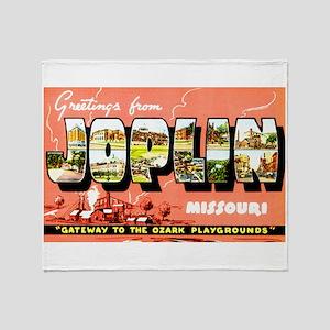 Joplin Missouri Greetings Throw Blanket