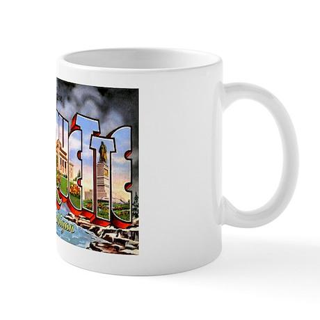 Marquette Michigan Greetings Mug