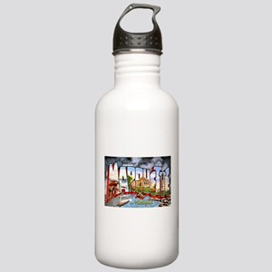 Marquette Michigan Greetings Stainless Water Bottl