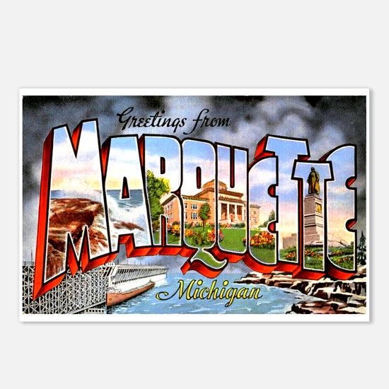 Marquette Michigan Greetings Postcards (Package of
