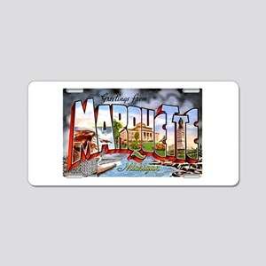 Marquette Michigan Greetings Aluminum License Plat
