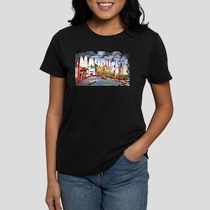 Marquette Michigan Greetings Women's Dark T-Shirt