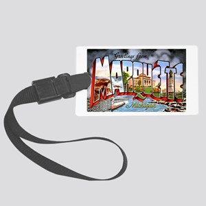 Marquette Michigan Greetings Large Luggage Tag