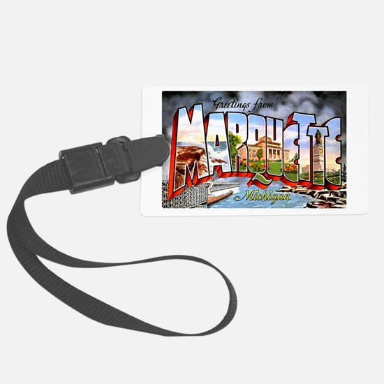 Marquette Michigan Greetings Luggage Tag