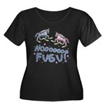 Fugu Women's Plus Size Scoop Neck Dark T-Shirt