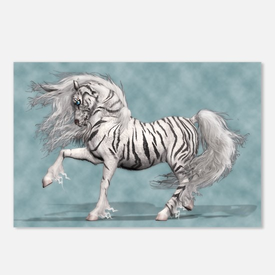 White Tiger Unicorn Postcards (Package of 8)