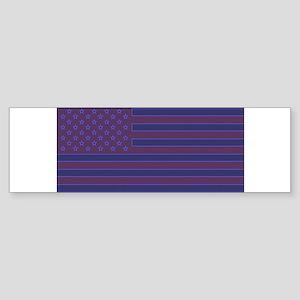 US flag edit C Bumper Sticker