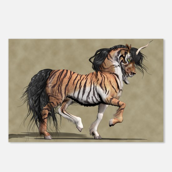 Tiger Unicorn Postcards (Package of 8)