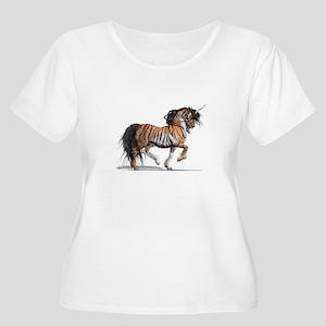 Tiger Unicorn Women's Plus Size Scoop Neck T-Shirt