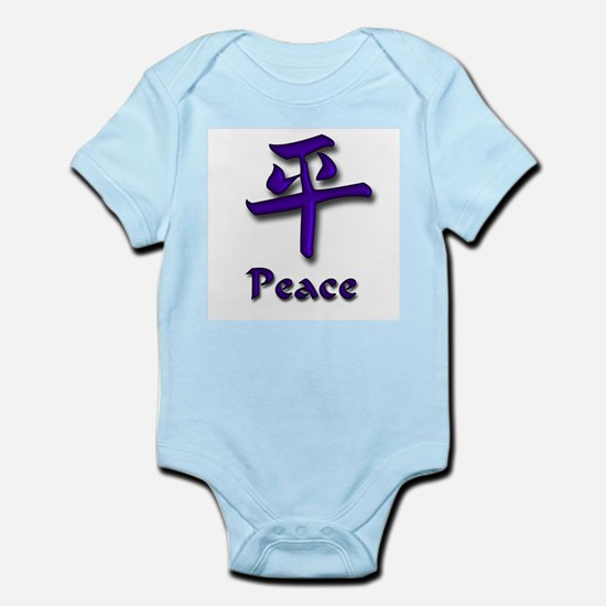 Peace in English and Kanji Infant Creeper