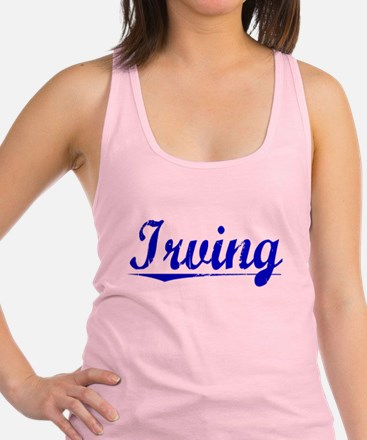 Irving, Blue, Aged Racerback Tank Top