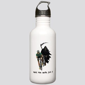 Grim Reaper Chasing Cyclist Stainless Water Bottle