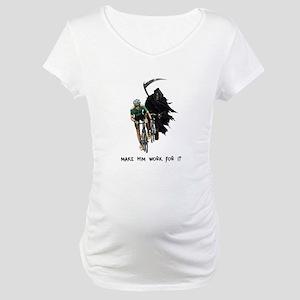 Grim Reaper Chasing Cyclist Maternity T-Shirt