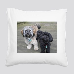Burt&Ernie Square Canvas Pillow