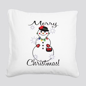 Merry Christmas! Square Canvas Pillow