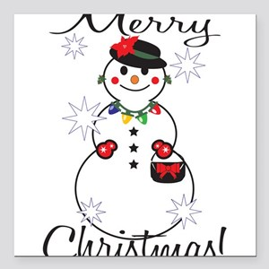 "Merry Christmas! Square Car Magnet 3"" x 3"""