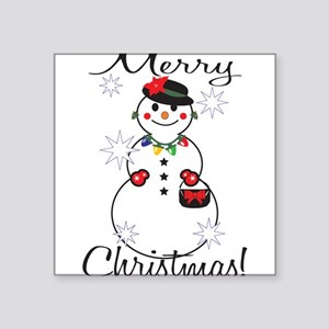 "Merry Christmas! Square Sticker 3"" x 3"""